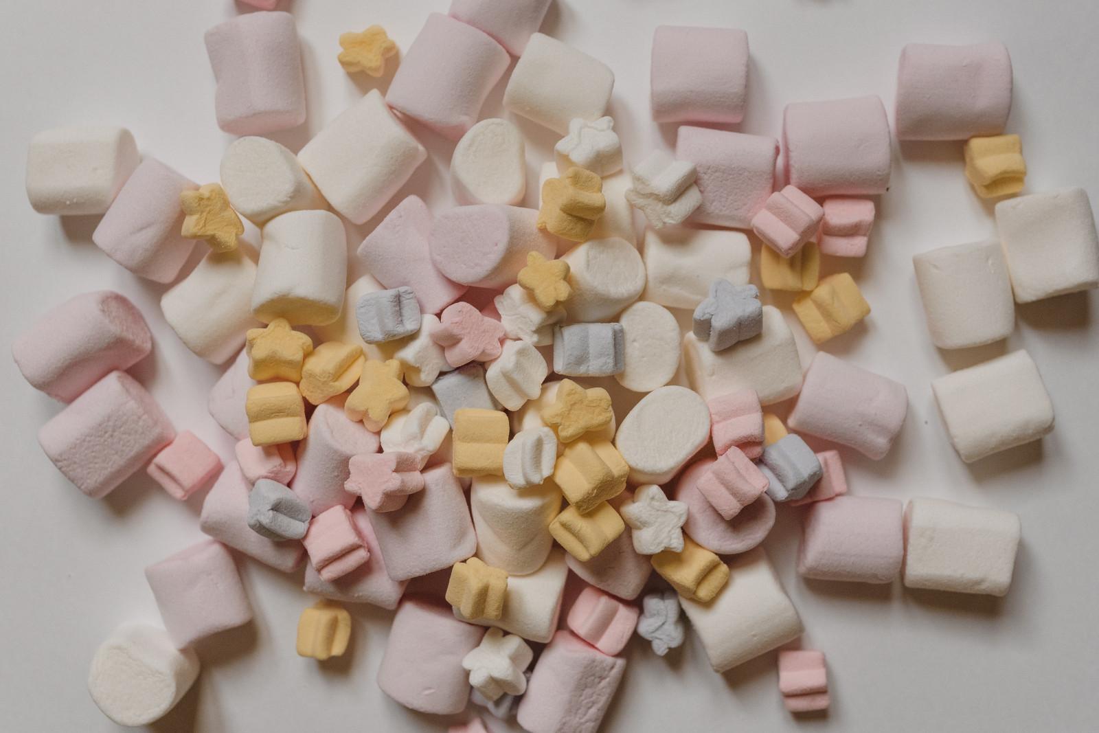 小清新美食|甜甜的棉花糖高清图片