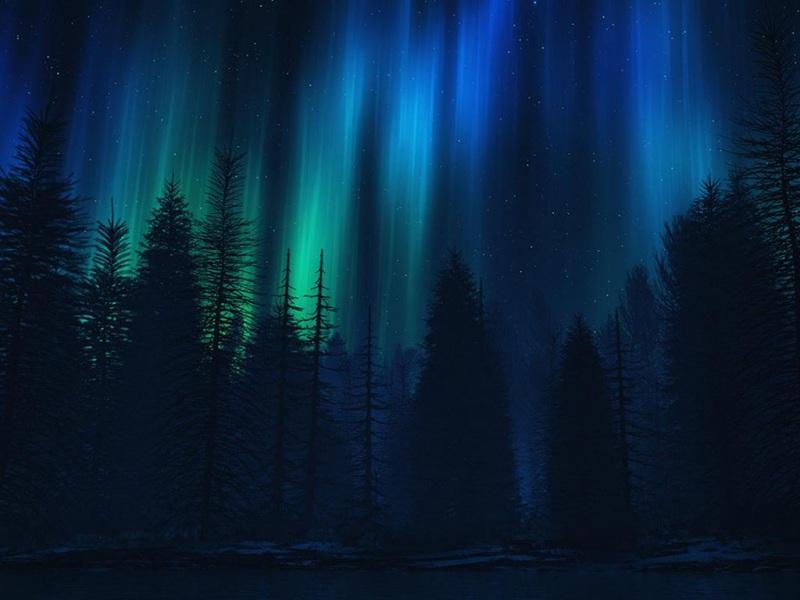 唯美深夜风景高清电脑壁纸图片