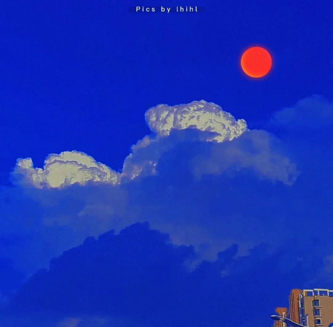 蓝色背景图片唯美风景|生活匆忙,别错过日落和夕阳