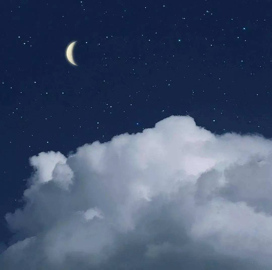 唯美背景图片风景|深夜的浪漫是一轮皎洁的月牙