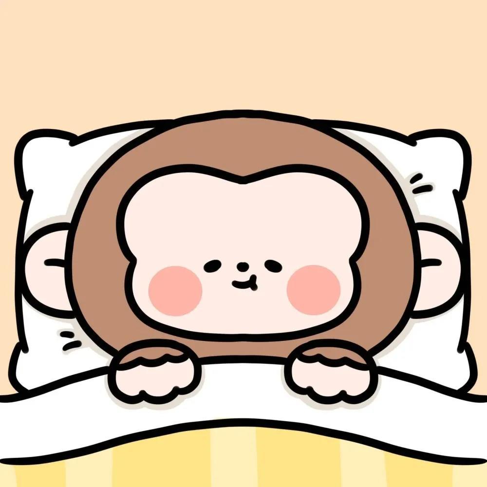 超萌可爱图片头像|盖上被子睡觉的卡通动物们晚安