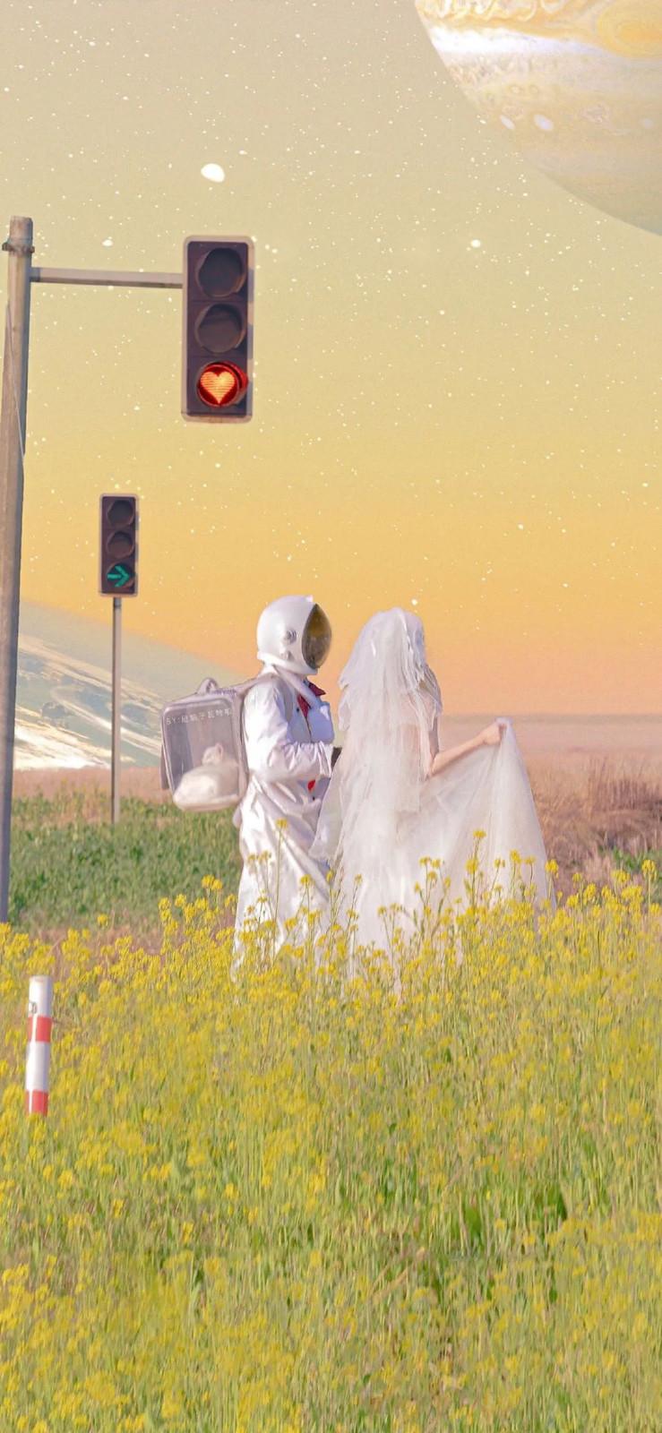 2021ins精选宇航员手机壁纸图片,来自宇宙的浪漫