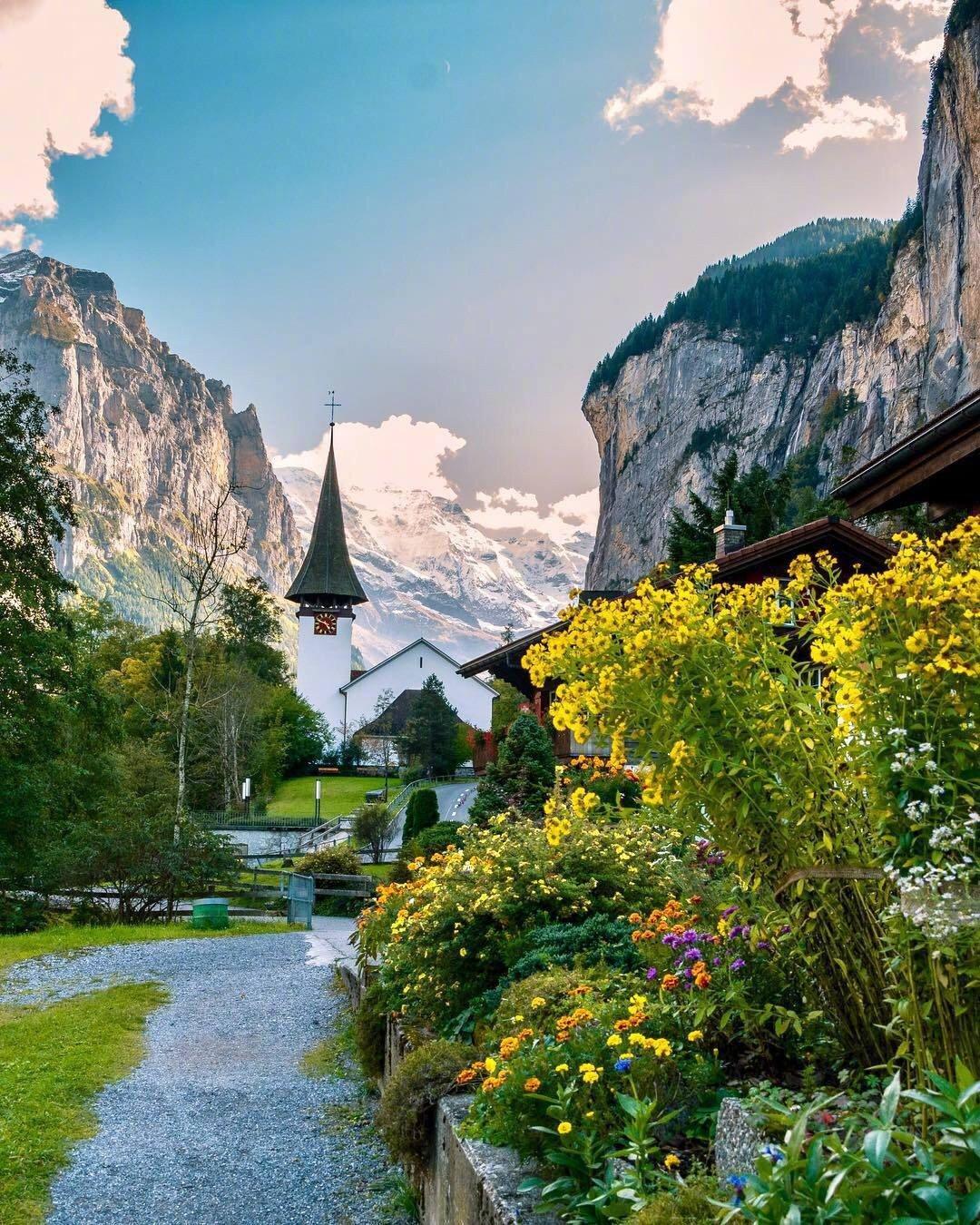 好看的风景图片 宁静唯美的瑞士小镇背景图