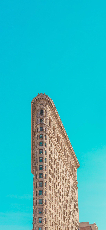 高清风景图|清新透亮的蓝色天空背景下的风景图片