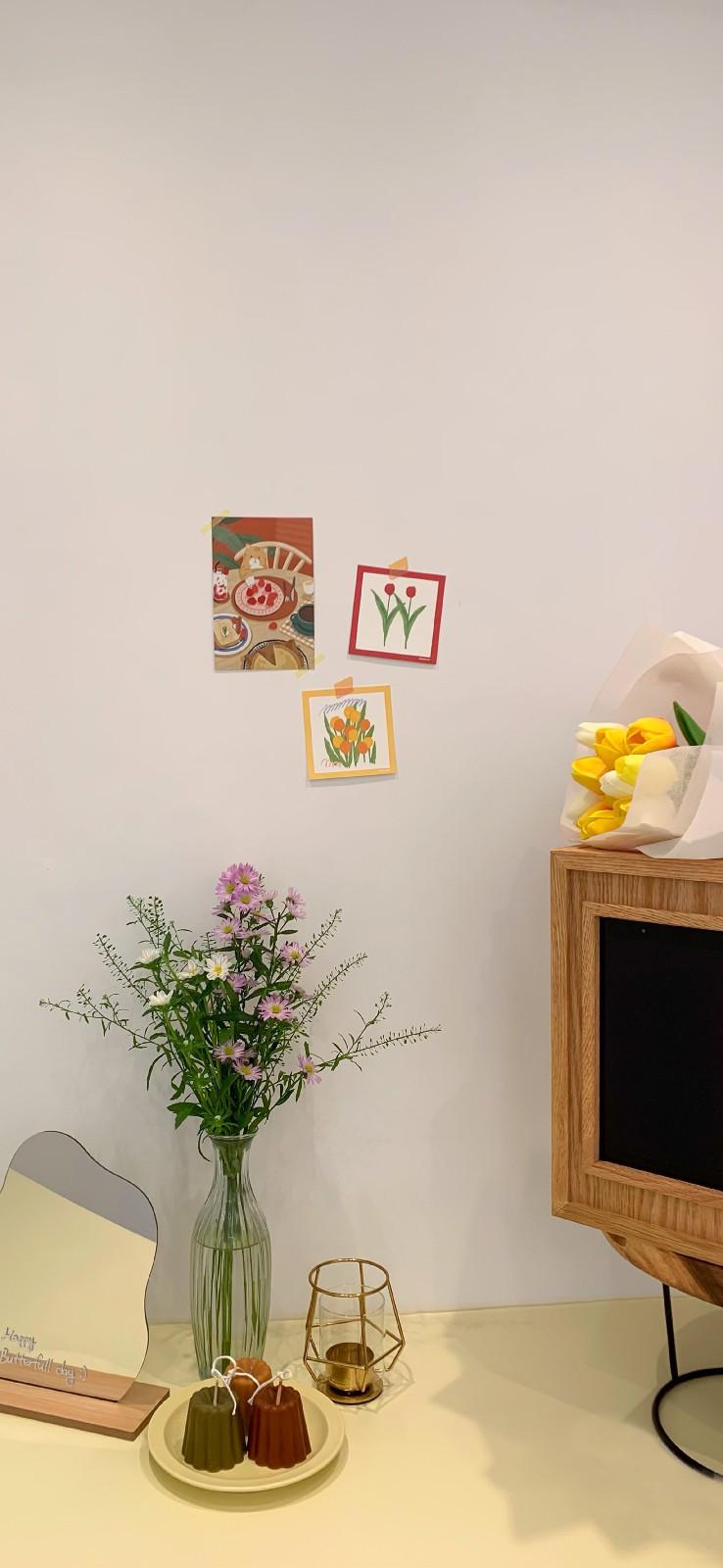 美好生活记录图片手机壁纸|给生活送一束花的仪