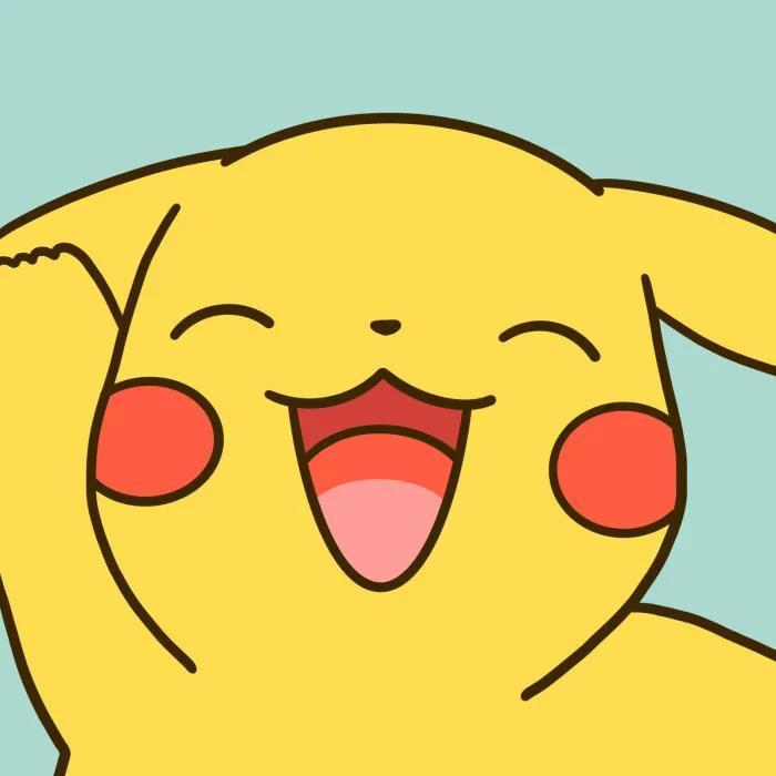可爱卡通头像图片 皮卡丘开心治愈的笑容