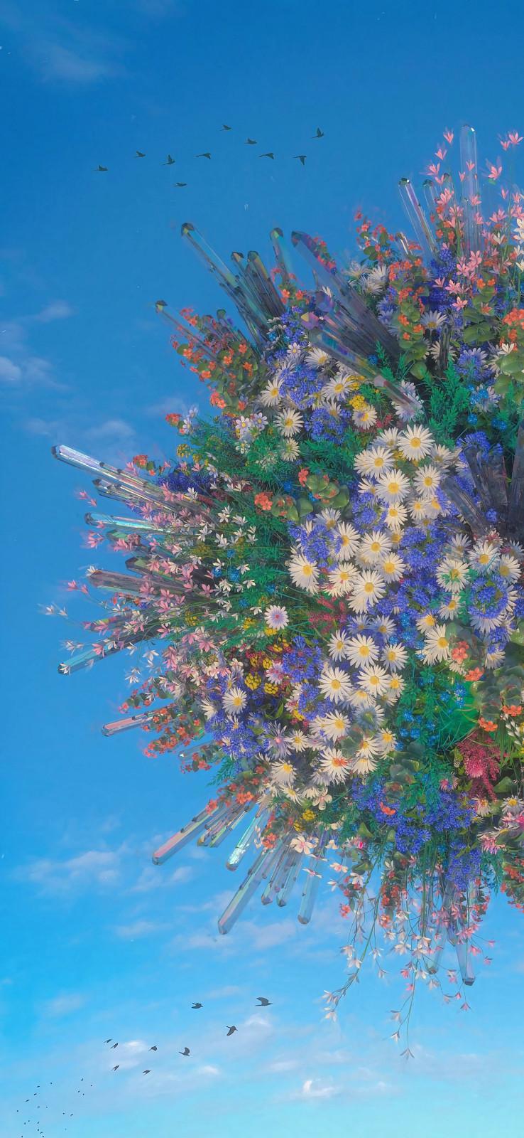唯美好看有创意的花卉手机壁纸图片