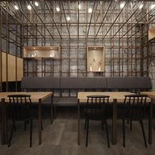 隆小宝晾面架面馆餐厅设计