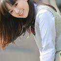 笑容甜美的清新氧