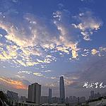 早安鹏城清晨唯美图片