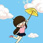 可爱卡通女孩早安文字图