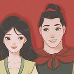 迪士尼公主情侣图片