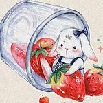 唯美可爱卡通兔子插画高