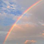 唯美真实的彩虹,彩虹尽