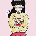 复古风少女手绘头像图片