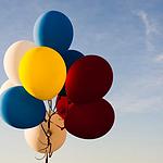 漂亮的五颜六色的气球图