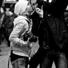 黑白个性情侣图片