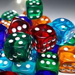 超级可爱各种颜色的骰子