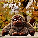 漂亮的大猩猩毛绒