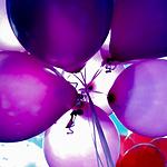 超级可爱色彩斑斓的气球