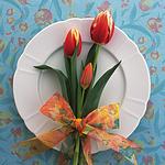 超美用花卉装饰盘子的艺