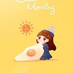 唯美早安,可爱的小女孩图