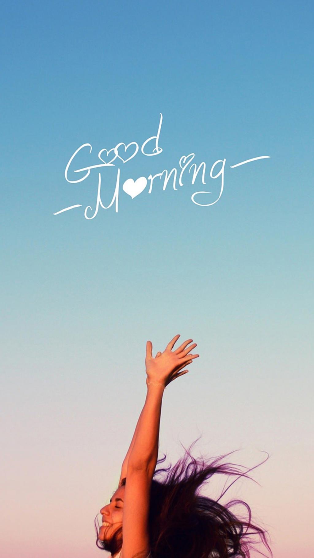 GoodMorning早上好唯美高清手机壁纸图片