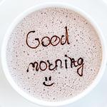 享受早上好心情咖啡配文