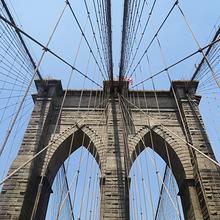 美国纽约布鲁克林大桥宽阔