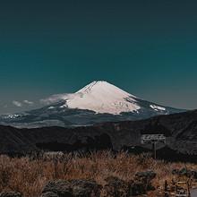 日本富士山风景怡人高清桌