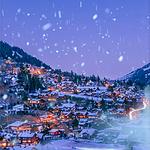 冬季大雪纷飞唯美雪景高