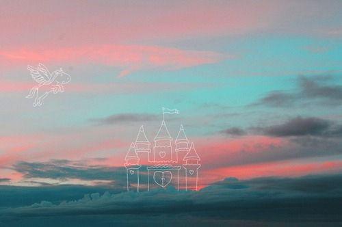 超美天空的颜色模糊了我对你的思念图片