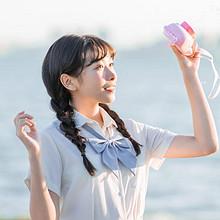日系纯情学生妹甜美海边写
