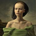 最新的油画上女人