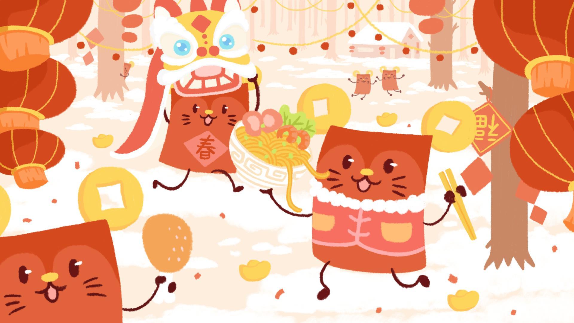 新春快乐喜气洋洋超清电脑壁纸图片大全