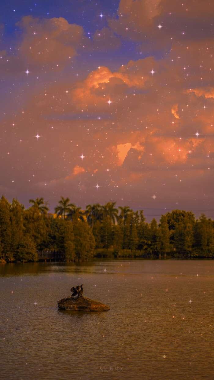 眼里满是星光的超美黄昏风景手机壁纸图片大全