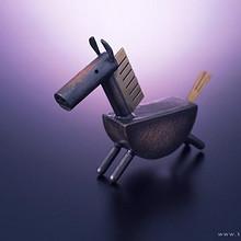 有趣可爱的玩具木马高清壁纸图片