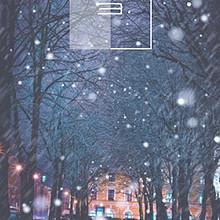 街道超美雪景唯美手机壁纸