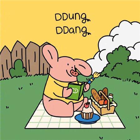 可爱猪猪卡通好看萌萌空间素材 不争辩不解释做