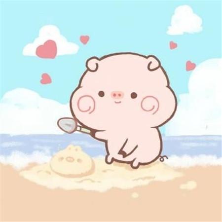 呆萌卡通小猪可爱唯美图片大全