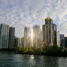 唯美的美国芝加哥伊利诺伊州城市白天黑夜建筑风景图片