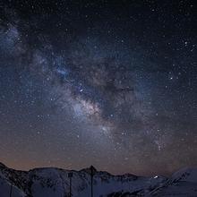 浩瀚夜空星光点点唯美星空风景图片大全