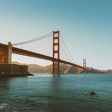 开阔的美国旧金山金门大桥建筑精选风景图片