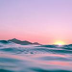 温柔的海上日落余晖唯美