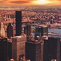 黄昏下的摩天大厦