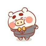 两只小猪猪可爱情侣秀恩