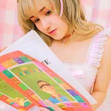 粉色洛丽塔少女性感迷人高