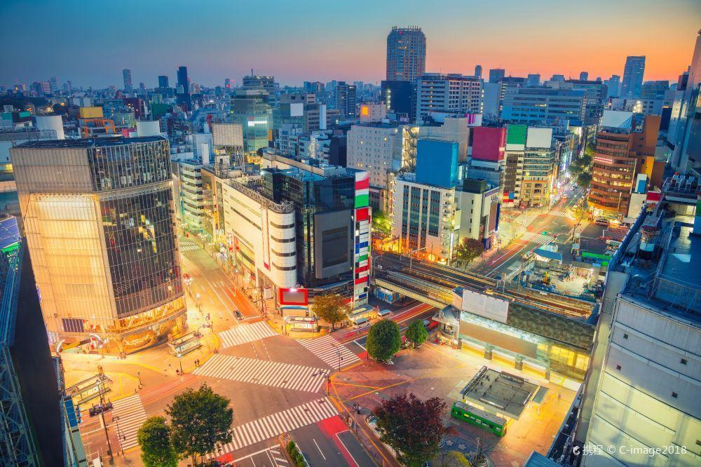 东京涩谷高清摄影场景风景图片