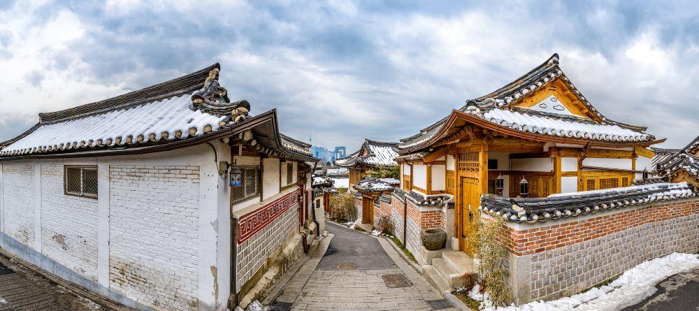 高清首尔北村韩屋村图片 北村韩屋村旅游景点真实照片风景