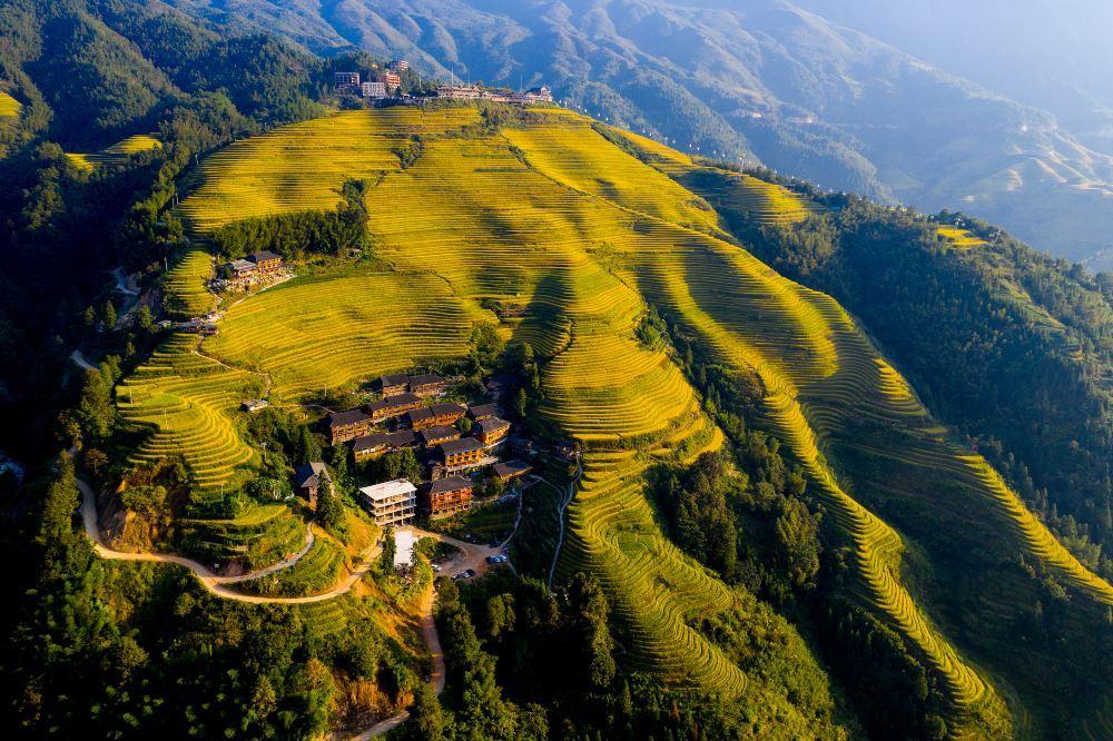 桂林龙脊梯田旅游景点真实照片
